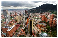 View over Bogota, capital of Colombia