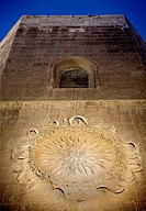 Sun of Portocarrero, simbolo of the city on the Cathedral of Almería. Andalusia. Spain. Europe