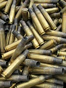 Residual ammunition packing and casing materials