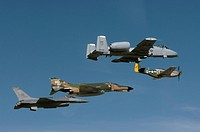 P_51 Mustang, an F_4 Phantom, an A_10 Thunderbolt and an F_16 Fighting Falcon