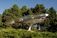 A replica of the Curtiss P_40E Warhawk