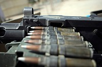 Fifty_caliber machinegun rounds are set to be fired