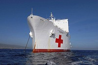 The Military Sealift Command hospital ship