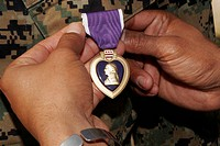 Light armored vehicle commander awarded the Purple Heart