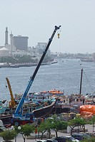 dubai, creek, construction, lift, work