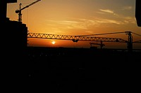 Sunset, sunrise, rise, construction, dubai, building (thumbnail)