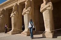 africa, egypt, luxor area, deir el_bahari, hatshepsut temple