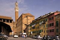 europe, italy, siena, piazza del mercato