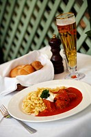 Goulash dish at the upmarket weibels wirtshaus restaurant serving traditional Austrian food, located at Kumpfgasse 2, Vienna, Austria