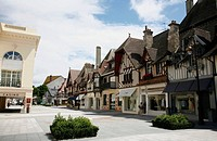 the area of designer boutiques shops, Deauville, Normandy, France