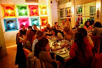 People eating at the trendy restaurant Picante in the Ortakoy Quarter  Istanbul, Turkey