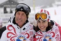 gustav thoeni e deborah compagnoni, santa caterina valfurva 04_04_2009, sciare per la vita,