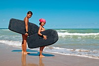 children surf