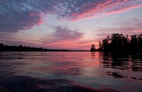 Lake Photography _ Sunset over water at lake