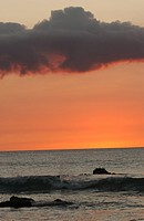 Big Island of Hawaii _ sunset from beach