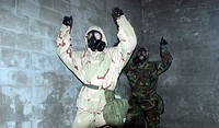 building, gas masks, gas, chamber, arms