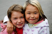 Portrait of young girls, Nuuk, Greenland