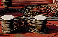 cables, Austria, bollard, boat, austria, abstract