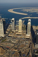 dubai, aerial, airborne, sky, december, 2006