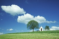clouds, blue, cloud, church, chapel, day, architecture
