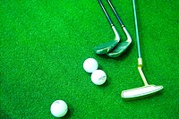 ball, leisure, putter, club, golf, sports equipment, sports