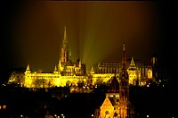 Night view, scene, Budapest, Hungary, europe, tourist resort (thumbnail)