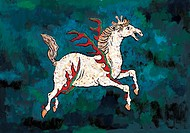 mythical, horse, myth, white horse, tradition, mythology, animal