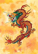 mythical, dragon, myth, painting, tradition, mythology, animal