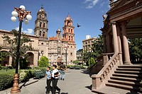 Mexico. Colonial City. San Luis de Potosí. Plaza de Armas. Cathedral