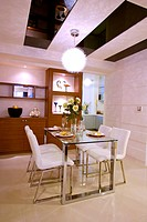 Dining room of modern home