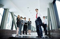 Business people standing in the office building