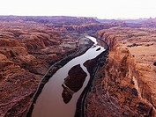 Green or Colorado River running through Canyonlands National Park, Utah, United States