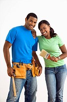 Couple with home repair tools