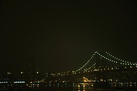 Williamsburg Brigde at night, New York City