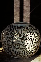 Intricately designed ceramic vase