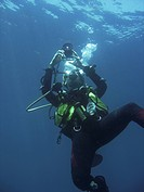 Diver taking a photo. Sabang . Philippines. Taken 2007