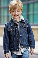 Boy in denim jacket portrait