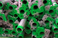 Stockpile of scaffolding components