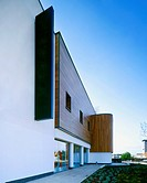 Modern building with timber cladding