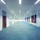 Deserted interior of office building