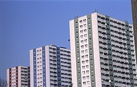 Refurbished towerblocks, Enfield, North London (thumbnail)