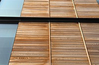Residential development with wood panels _ timber cladding