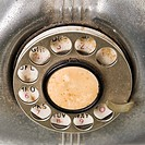 Dial on rotary telephone
