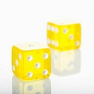 Two yellow dice