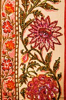 Detail of colorful floral patterned fabric