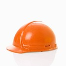 Orange safety hard hat