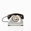 Rotary telephone with black receiver (thumbnail)