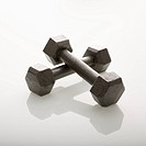 Two dumbbells leaning together (thumbnail)