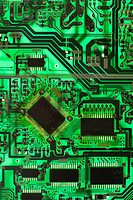 Green circuit board detail
