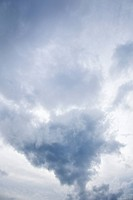 View of sky with large cumulus cloud formation